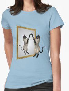 Cute Siamese Cat In Mirror T-Shirt