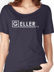 Dr Ross Geller Ph.D  x House M.D. Women's Relaxed Fit T-Shirt