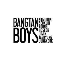 BTS/Bangtan Boys Names by PaolaAzeneth