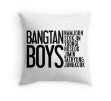 BTS/Bangtan Boys Names Throw Pillow