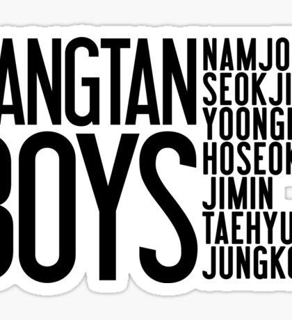 BTS/Bangtan Boys Names Sticker