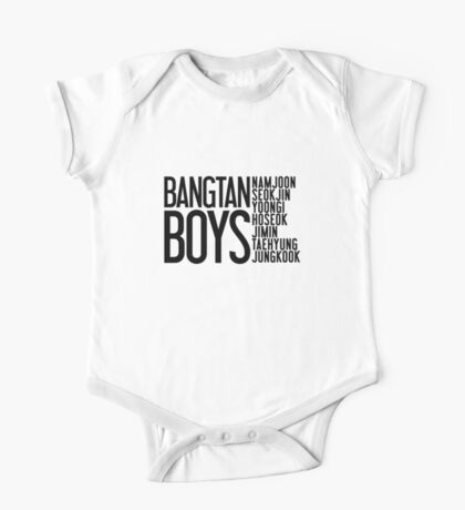 BTS/Bangtan Boys Names One Piece - Short Sleeve