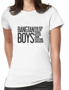BTS/Bangtan Boys Names Womens Fitted T-Shirt