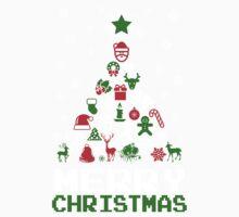 Ornament Merry Christmas Tree Kids Tee