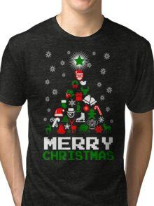 Ornament Merry Christmas Tree Tri-blend T-Shirt