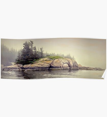 Foggy Morning,Stonington Maine Poster