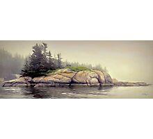Foggy Morning,Stonington Maine Photographic Print