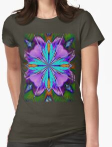 Colorful Purple And Turquoise Kaleidoscope Design T-Shirt