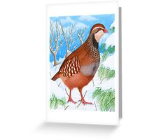 The Red-Legged Partridge by Véronique Cole Greeting Card