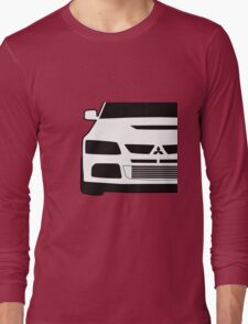 Mitsubishi Lancer Evo - Close Up Zoom Corner Sticker / Tee Design Long Sleeve T-Shirt