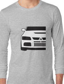 Mitsubishi Lancer Evo - Close Up Zoom Corner Sticker / Tee Design Long Sleeve T-Shirt