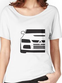 Mitsubishi Lancer Evo - Close Up Zoom Corner Sticker / Tee Design Women's Relaxed Fit T-Shirt