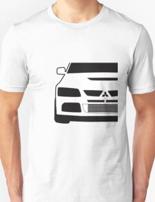 Mitsubishi Lancer Evo - Close Up Zoom Corner Sticker / Tee Design Unisex T-Shirt