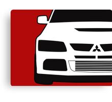 Mitsubishi Lancer Evo - Close Up Zoom Corner Sticker / Tee Design Canvas Print