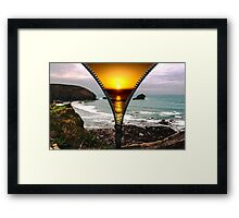 two weathers one location Framed Print