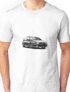 Mitsubishi Evolution X Sticker / Tee - Posterised/Greyscale design Unisex T-Shirt