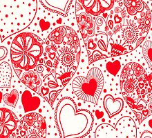 Red Hearts by Susan Moss
