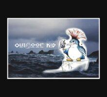 Outdoor Kid Penguin Punk One Piece - Short Sleeve