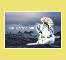 Outdoor Kid Penguin Punk Baby Tee