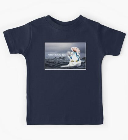Outdoor Kid Penguin Punk Kids Tee