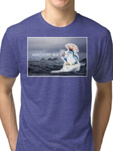 Outdoor Kid Penguin Punk Tri-blend T-Shirt