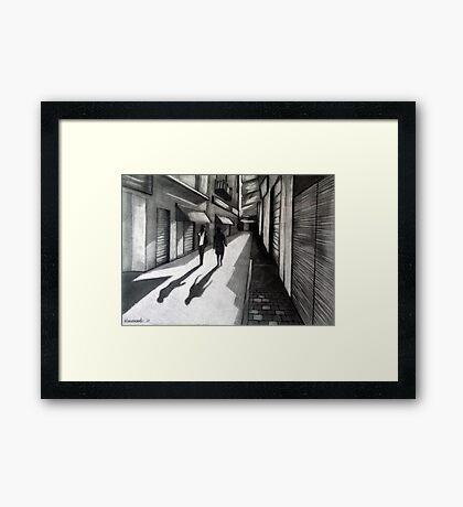 Closed Shops Framed Print