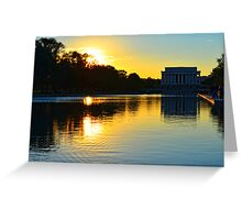 The Lincoln Memorial at Sunset Greeting Card