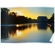 The Lincoln Memorial at Sunset Poster