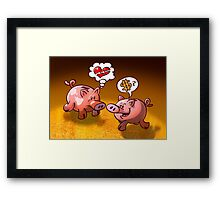 Money or Love? Framed Print