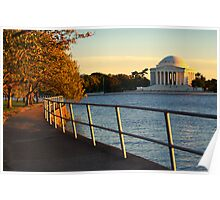 The Golden Jefferson Memorial Poster