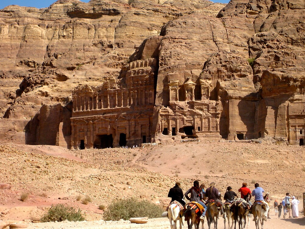 Riders in Petra by antoineguil