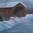 Vermont Covered Bridge by Anne E Colturi