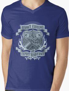 Respect Existence Mens V-Neck T-Shirt