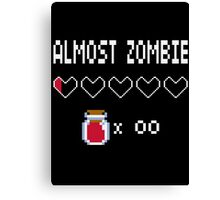 Almost Zombie Canvas Print