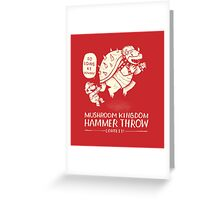 hammer throw contest Greeting Card