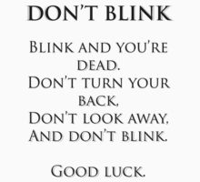 Don't Blink by Lindsay Fulda