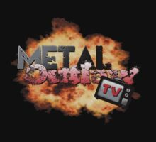 Metal Outlaw TV - Explosion logo Kids Tee