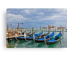 Gondolas near Piazza San Marco in Venice Canvas Print