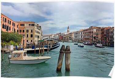 Grand Canal in Venice near Rialto Bridge by kirilart