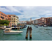 Grand Canal in Venice near Rialto Bridge Photographic Print
