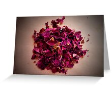 Crushed Rose Petals Greeting Card