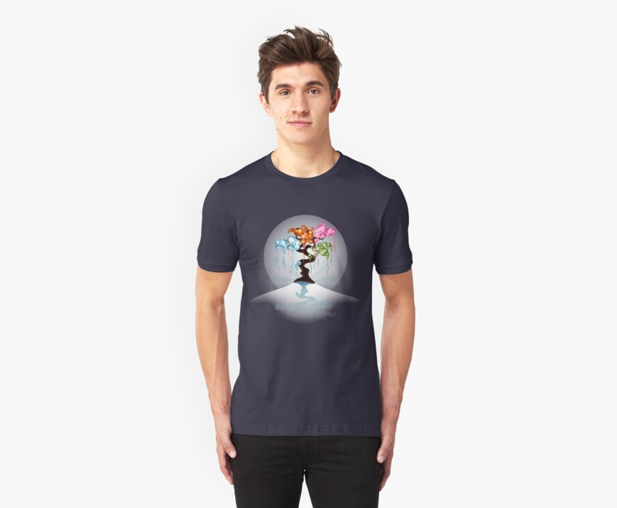 The Four Seasons Bubble Tree - Tee by ruxique
