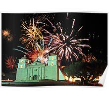 New Years 2012 at Mission Santa Barbara Poster