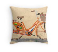 Love Holland, Love Bike Throw Pillow