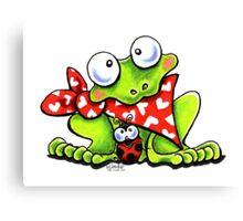 Sweet Frog n Ladybug Canvas Print