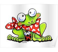 Sweet Frog n Ladybug Poster
