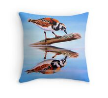 Ruddy Reflection Throw Pillow