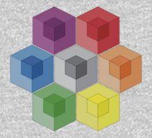 Cube Rainbow One Piece - Long Sleeve