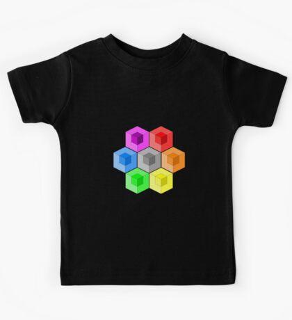 Cube Rainbow Kids Tee