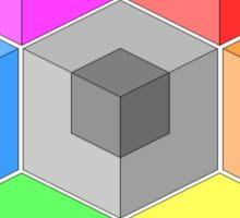 Cube Rainbow Sticker